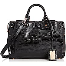 SwankySwans Ashton Croc Patent Leather Work, Borsa a secchiello