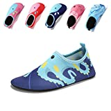 Laiwodun Toddler shoes Kids Swim Water Shoes Boys Girls Barefoot Aqua Socks Shoes for Beach Pool Surfing Yoga Unisex(5-26-27)