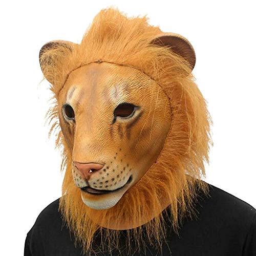Yalatan realistische Latex Tier Maske, Neuheit Halloween Gummi gruselig Kostüm Party Maske, schreckliche Löwe Tiger Kopf Maske für Abend/Halloween - Tiger Nase Kostüm