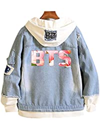 ecac6f3bd Kpop BTS Bangtan Boys Casual Jean Jacket for Men and Women with Suga Jin  Jimin Jung Kook J-Hope Rap…