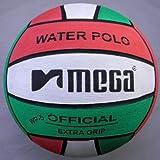 Mega Water Polo Ball red-White-Green Design. Größe 5