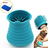 Dog paw Cleaner, Portable Pet Foot Washer, Paw Cleaner Cup with Massage Function,Integrally-Formed