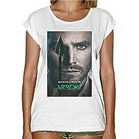 T-Shirt Donna Fashion Arrow Freccia Verde Serie Tv Locandina -