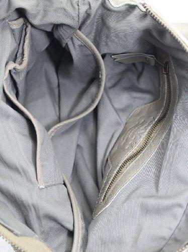 CTM-Frauen-Beutel Postman amylee Vintage, 36x30x10cm, 100% echtes Leder Made in Italy Schlamm