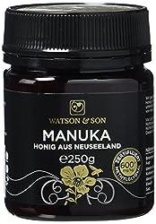 Watson & Son Manuka Honig MGO 600+ 250g   Zertifizierte Premium Qualität aus Neuseeland