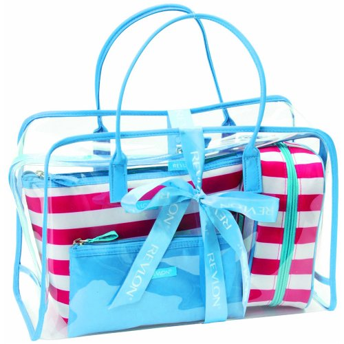 Revlon Bright Stripe 4 Pieces Deluxe Tote Set 4-teilig (Tote Deluxe)