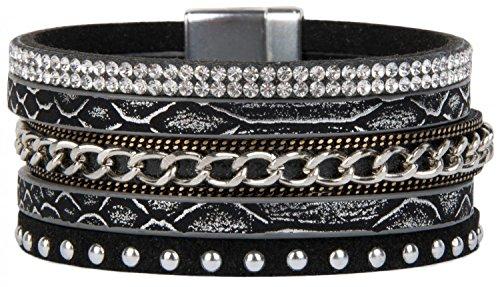 stylebreaker-05040001-bracelet-a-rivets-et-strass-sur-toute-la-chaine-de-serpent-pour-05040023-et-fe