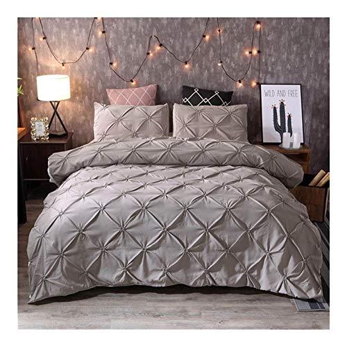 Mmamma Winter Bettwäsche Sammlungen Solid Color Plaid-Muster in voller Größe Tröster Bettwäsche-Sets Moderne Bettwäsche Bettbezug-Set Bettlaken und Kissenbezüge Bettwäsche Bettbezug-Set Bettlaken Set -