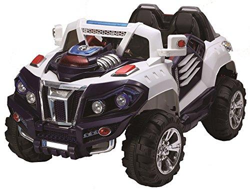 Toyas Future Kinder Elektro Auto JEEP SUV Geländewagen Kinderfahrzeug 12V weiß 2 Sitzer