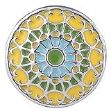 Morella Damen Click-Button Druckknopf Ornament Marokko gelb