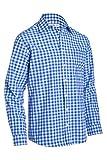 Almsach Herren Regular Fit Trachten Hemd LF106 polarblau