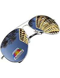 Vintage Retro Original Pilot Mirrored Mirror lens Polarized Sunglasses Glasses Air Force Unisex Vintage lens UV400 MFAZ Morefaz Ltd