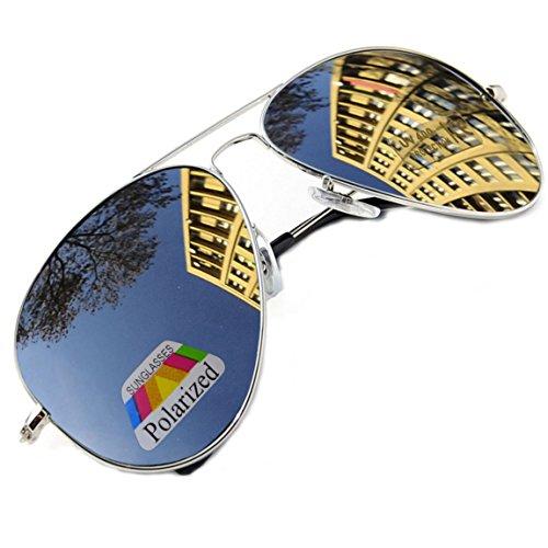 UNISEX Damen Herren Pilot Style Polarisierten Polarized Grün Sonnenbrille Brille Sunglasses UV400 Protection MFAZ Morefaz - Aviator Pilot Kostüm