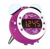 Soundmaster UR 140 Kinder Uhrenradio mit Nachtlicht und Uhrenprojektion LILA