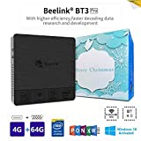 Beelink BT3PRO II Mini PC, Mini Computer Desktop con HDMI e VGA, Processore Intel Atom X5-Z8350, WiFi da 4GB+64GB, 2,4G/5,8G Dual Band, BT 4.0, 4K, 1000 Mbps LAN, Supporto Windows 10