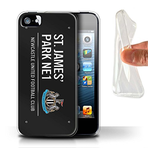 Offiziell Newcastle United FC Hülle / Gel TPU Case für Apple iPhone 5/5S / Pack 6pcs Muster / St James Park Zeichen Kollektion Schwarz/Weiß