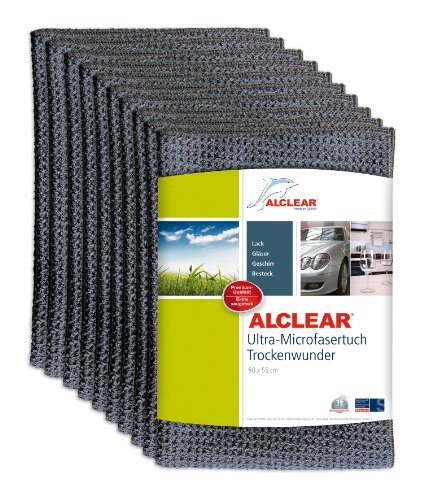 ALCLEAR 10820901M Trockenwunder, 80 x 55 cm, Anthrazit ,10er Set