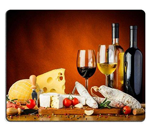 Luxlady Gaming Mousepad Image ID: 27454844still Life con tradizionale formaggio salsicce cibo e vino