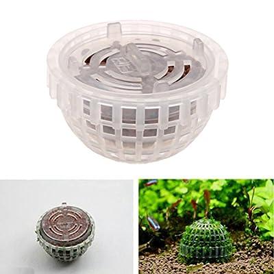 UEETEK Wasserpflanzen Topf Moss Ball Mineral Balls Zuchtbehälter für Aquarium Aquarium