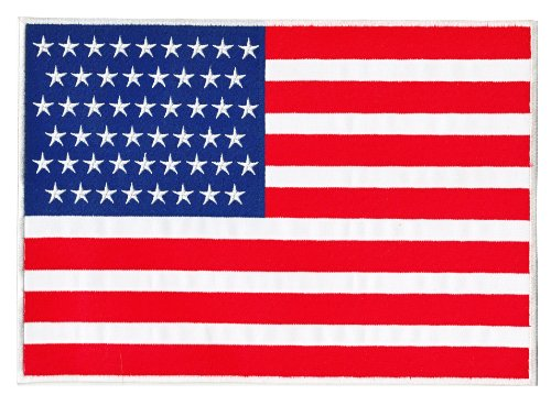 USA Flagge Vereinigte Staaten von Amerika Backpatch Rückenaufnäher XXL ca. 20 x 22 cm -