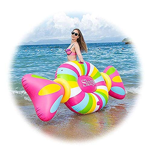 YHYGOO Giant Candy Pool Galleggiante per Adulti Piscina Gonfiabile ad Acqua Piscina Lollipop Poltrona Letto Galleggiante, Candy