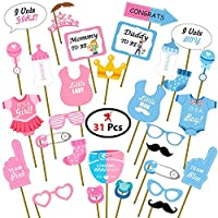 Party Propz Baby Shower Photo Booth Props Pack Of 31 For Baby Shower Decoration