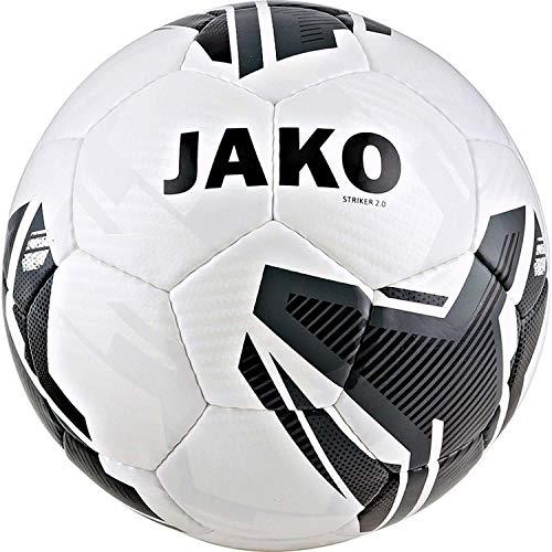 JAKO Fußbälle Trainingsball Striker 2.0, weiß/anthrazit, 5, 2353