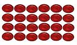 Platzteller Dekoteller Ø 33 cm rot Set
