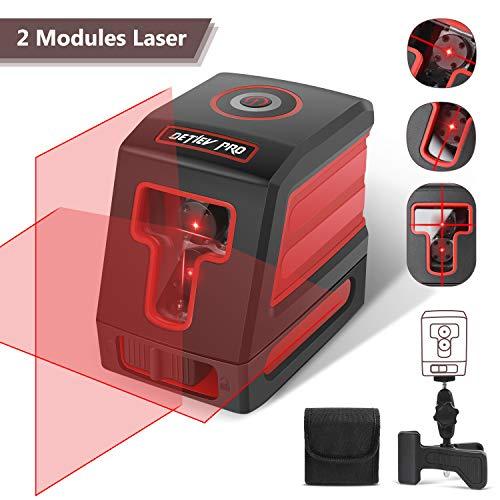 Niveau Laser Croix, DETLEV PRO Niveau Laser Autonivelant Laser Horizontal et Verticale Faisceau...