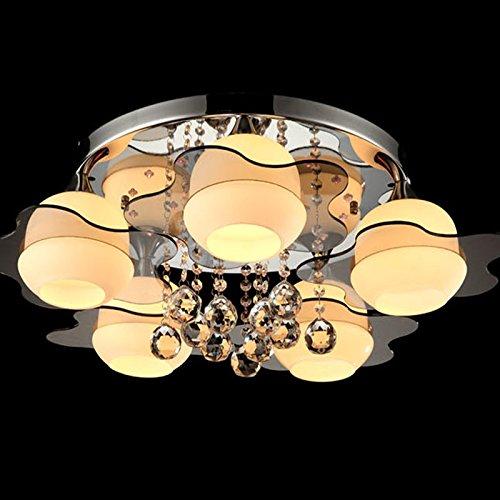 CLG-FLY Crystal soffitto lampada rotonda led lampada camera soggiorno lampada lampada lampada camerette il corridoio del ristorante la lampada di vetro illuminazione corridoio ,5 deluxe Edition con fonte luminosa a led