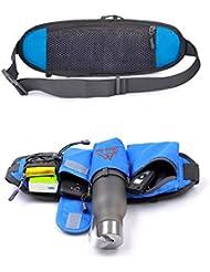 jassby (TM) deportes al aire libre mulitfuction correr cintura bolsa cinturón deporte danza gimnasio botella soporte funda para teléfono Paquete de clave monedero yc210-sz +, verde