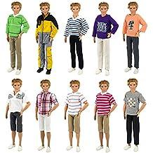 Miunana 5 Abiti Vestiti Pantaloni Selezionati A Caso Per Bambola KEN Dolls 0b5f1e1c5f9