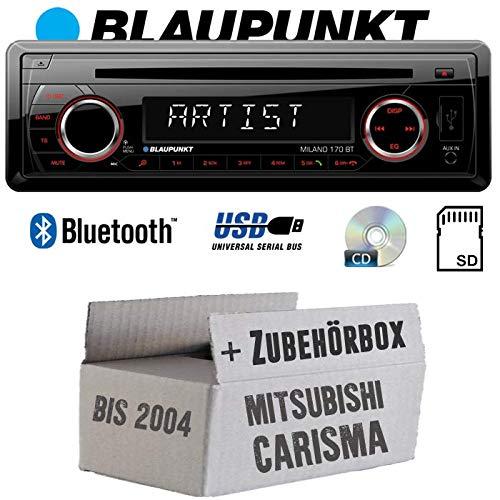 BLAUPUNKT Milano 170 BT - Bluetooth | CD | MP3 | SD | USB Autoradio Radio - Einbauset für Mitsubishi Carisma - JUST SOUND best choice for caraudio