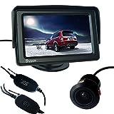 Buyee® AUTO Mini170° Rückfahrkamera Nachtsicht+Funk KFZ Sender+Empfänger +4.3 Zoll TFT LCD Monitor Rückfahrsystem Wireless Set