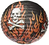 Amscan Rock On Heavy Metal Themed Party Round Printed Lanterns (3 Piece), Multi Color, 11.8 x 11.2
