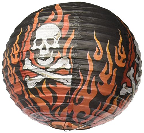 Amscan Rock On Heavy Metal Themed Party Round Printed Lanterns (3 Piece), Multi Color, 11.8 x 11.2""