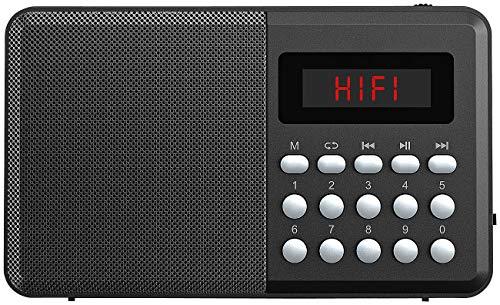 auvisio Mini Radio Bluetooth: FM-Taschenradio, Bluetooth, MP3-Player, Display, USB, microSD & Akku (Radio mit USB Stromversorgung)
