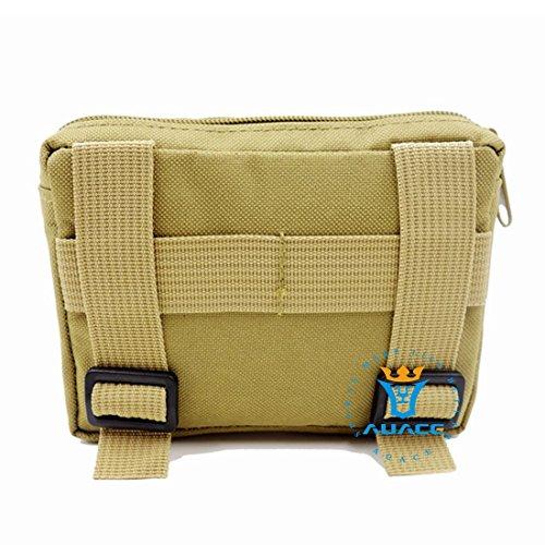4x 6multifunzione sopravvivenza Gear Tactical marsupio Molle della velcro bag Tactical marsupio, strumento di campeggio esterna portatile di viaggio borse borse borse del sacchetto KH
