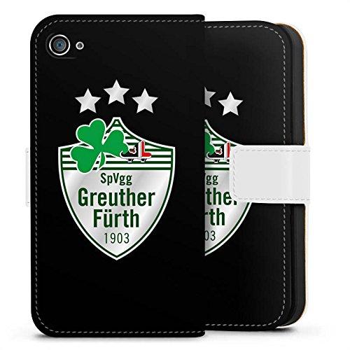 Apple iPhone X Silikon Hülle Case Schutzhülle SpVgg Greuther Fürth Fanartikel Fußball Sideflip Tasche weiß