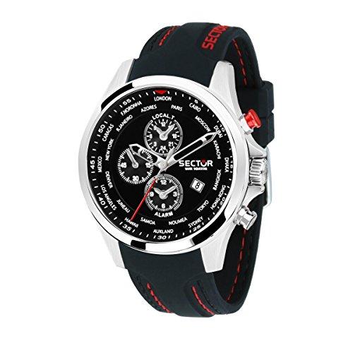 SECTOR Orologio Cronografo Quarzo Uomo con Cinturino in Silicone R3251180022