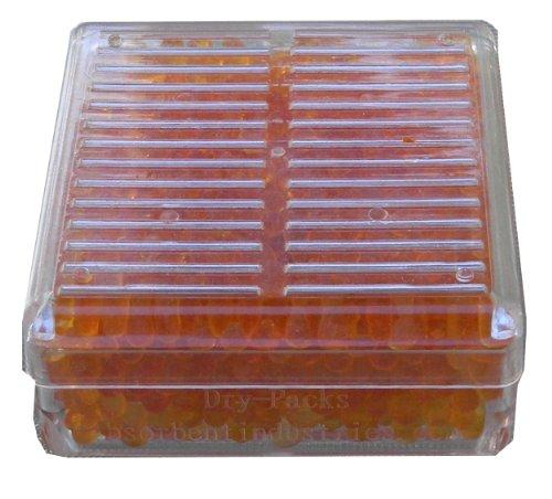 Dry-Packs - Deumidificatore a palline in gel siliconato, in confezione di plastica dura riutilizzabile