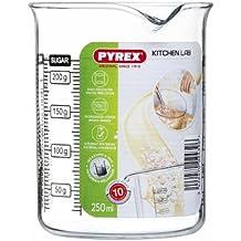 Pyrex Kitchen Lab Misuratore, Vetro, 0.25 Litri, Trasparente, 250