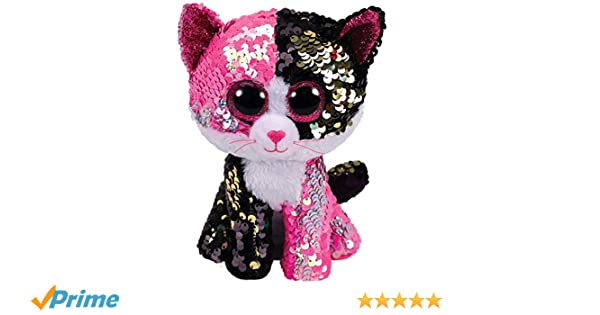 bd8661a17f5 Ty - Flippables - Malibu the Cat Sequin Soft Toy  Amazon.co.uk  Toys   Games