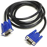 E - COSMOS 15Pin VGA Male To Male High Quality Lead For PC, Monitor,Tv, Lcd,Plasma,Projector - 1M Data cable