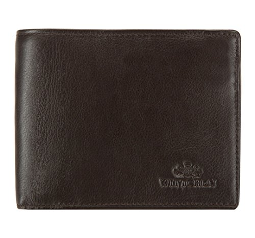 WITTCHEN Portemonnaie Geldbörse, 2x12.5x10cm, Dunkelbraun, Naturleder, Leder, Handmade, 02-1-040-4 (Mädchen Von Fairy Tail)