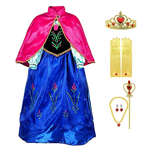 Fanient Mädchen Prinzessin Kleid Deluxe Fancy Kostüm Cosplay Verkleidung Kleid mit ()
