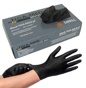 Lot de 100 gants en latex jetables sans poussi/ère taille S