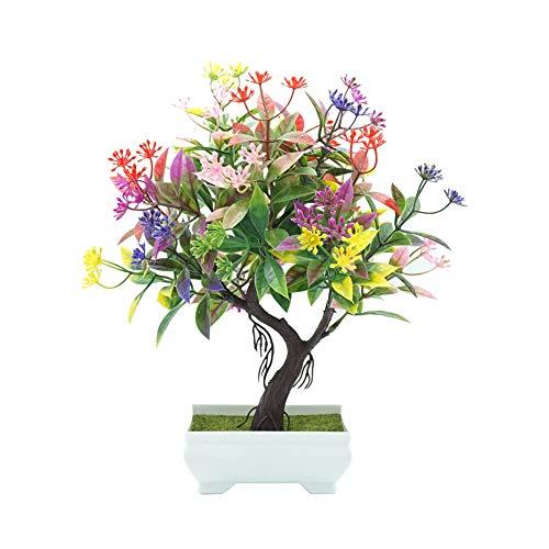 Sanwood 1Pc Künstliche Blumen Bonsai Performance Braut Hochzeitsblumenstrauß für Haus Garten Party Blumenschmuck Mehrfarbig (Hartriegel-künstliche Blume)