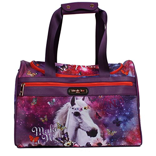 nicole-lee-jamie-17-inch-carry-on-duffel-bag-with-shoulder-strap-unicorn-one-size