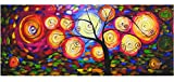 Rflkt Árbol de la Vida - Panorama - Pintura al óleo pintada a mano sobre lienzo...